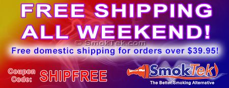 Free Shipping at SmokTek.com - all weekend