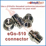 eGo-510 connector - Use 510/eGo atty on your 510 mod!