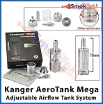 Kanger AeroTank Mega, 3.8 ml Bottom Dual Coil, Pyrex (with airflow control)