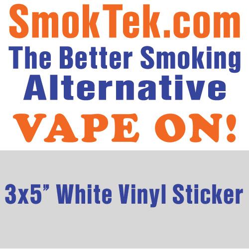 smoktek com vape on sticker show your friends that you support