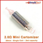 Mini 2.0 ohm low resistance cartomizer