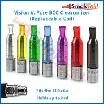 Vision V. Pure BCC Bottom Coil Clearomizer for 510/eGo