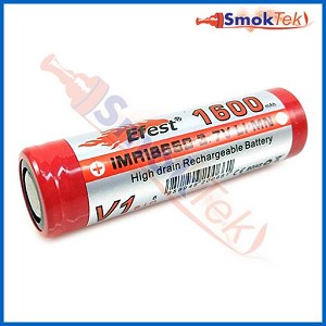 Efest IMR18650 1600mAh, 30Amp, 3.7V LiMn battery - flat top