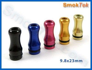 Contoured Aluminum 801 Drip Tip for Echo, eGo, Vision Cone Cartomizers