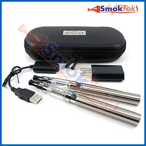 SmokTek eGo 1100 CE4-Changeable Coil Clearomizer E-Cigarette Kit with carry case