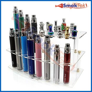 Acrylic Display for eGo Batteries and Drip Tips, Style 2
