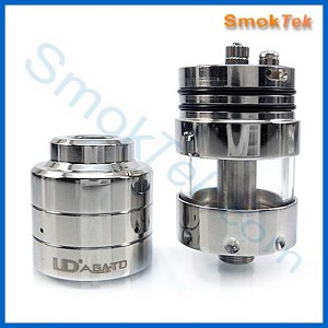 AGA-TD Rebuildable Genesis Style Atomizer - Pyrex Glass, Stainless