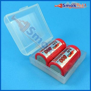 Plastic Battery Case - 2x 18350 or CR123