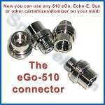 eGo-510 connector - Use eGo Mega atty and tank on your mod!