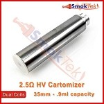 HV 2.5 ohm Dual Coil Cartomizer - Stainless
