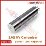 HV 2.0 ohm Dual Coil Cartomizer - Stainless