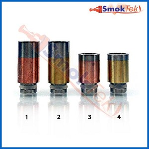 Wide Bore Stainless/Copper/Brass Hybrid Column 510 Drip Tip