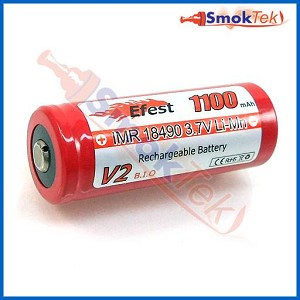 Efest IMR18490 1100mAh 3.7V Button Top LiMn battery
