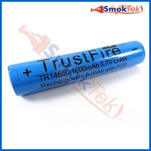 Trustfire Protected 14650 battery - 1600mAh