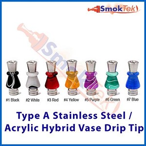 Type A Stainless/Acrylic Hybrid Vase 510 Drip Tip