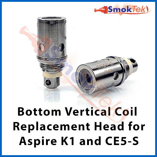 Aspire Bottom Vertical Coil Replacement Head for Aspire K1/CE5-S/Spryte