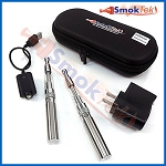 SmokTek eGo BDC 650 E-Cigarette Kit in Zipper Case -Stainless