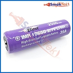 Efest Purple IMR18650 2500mAh 3.7V 35A High Drain Battery - Button Top