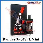 Kanger Subtank Mini, 4.5 ml Organic Cotton Coil, Pyrex (with airflow control) -Black