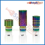Wide Bore Rainbow 510 Stainless Steel Drip Tip