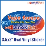 FREE SmokTek Vape Escape Oval Sticker #2