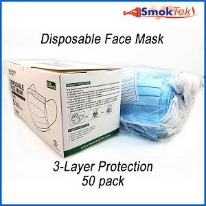 Disposable Face Mask - Medical, Surgical, 3-Ply 10 pack