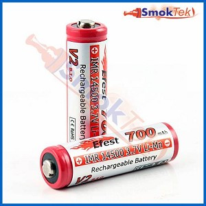 Efest IMR14500 700mAh 3.7V LiMn button top battery (2 pack)