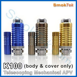 Kamry K100 Telescoping Mechanical Mod - body and cover
