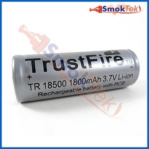 Trustfire 18500 Protected Li-Ion Battery - 1800mAh