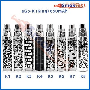 eGo-K Laser Etched Battery - 650mAh