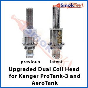 Upgraded Replacement Dual Coil Head for the Kanger ProTank-3 and AeroTank
